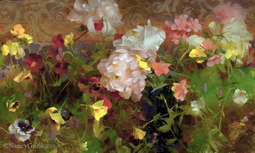 南希·古兹克笔下的花卉静物油画,爱了!插图5