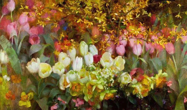 南希·古兹克笔下的花卉静物油画,爱了!插图9