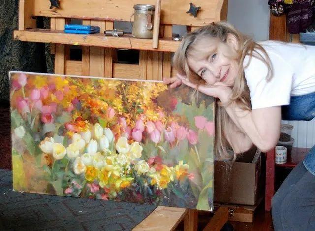 南希·古兹克笔下的花卉静物油画,爱了!插图11
