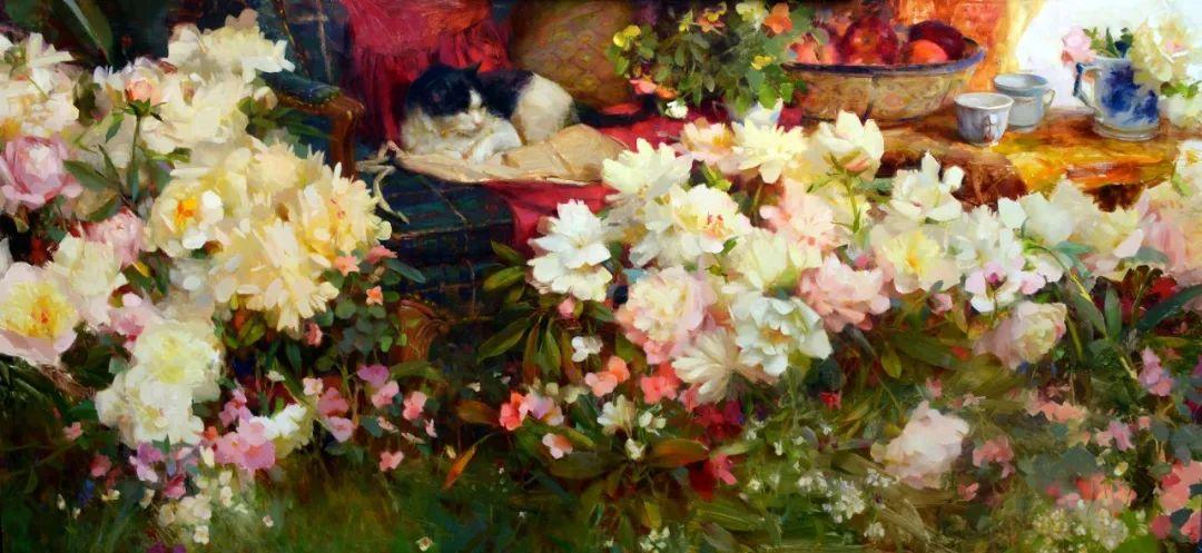 南希·古兹克笔下的花卉静物油画,爱了!插图17