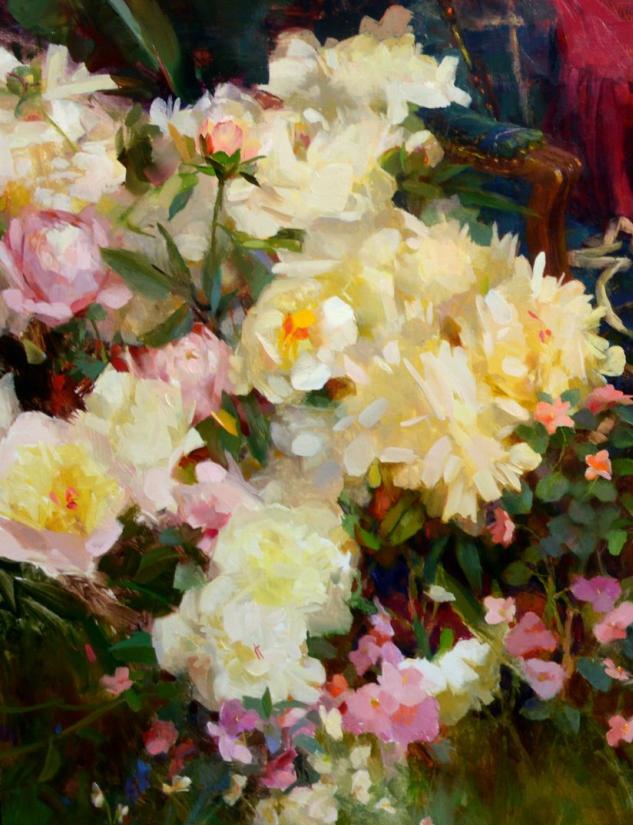 南希·古兹克笔下的花卉静物油画,爱了!插图19