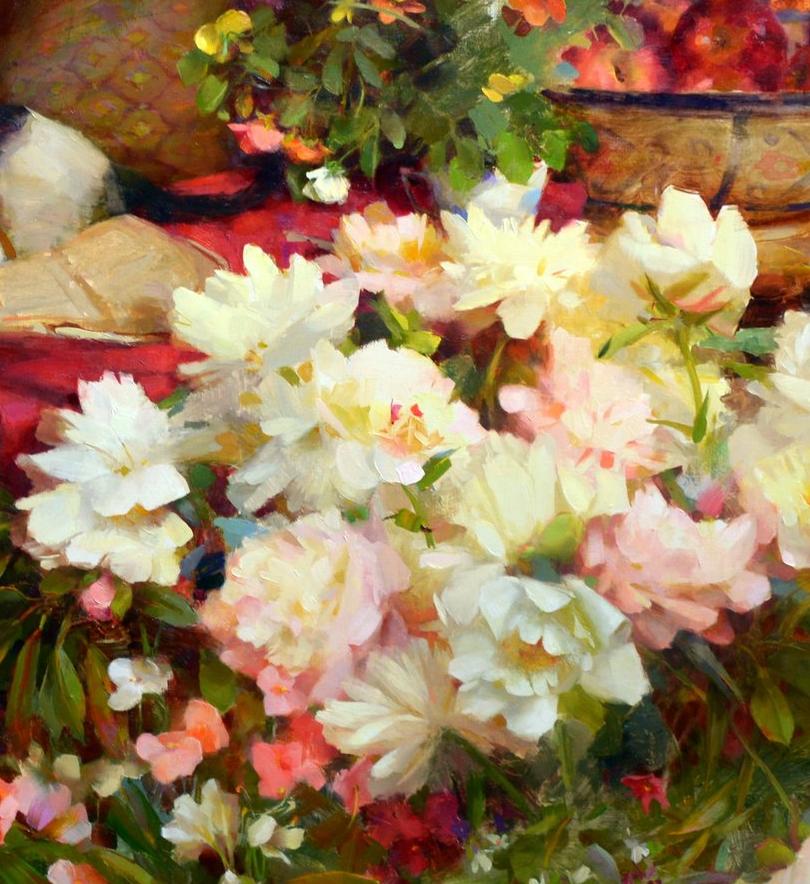 南希·古兹克笔下的花卉静物油画,爱了!插图21