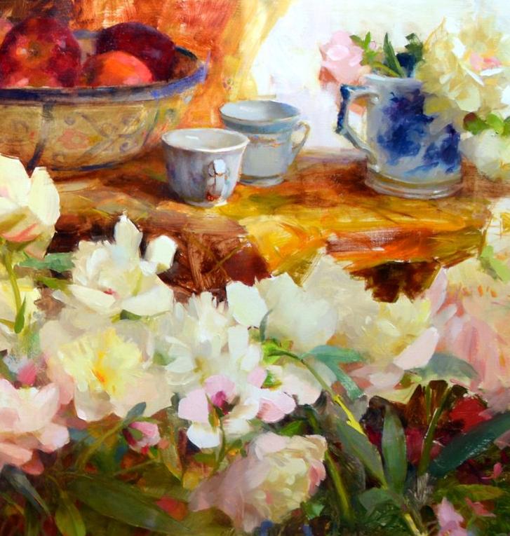 南希·古兹克笔下的花卉静物油画,爱了!插图23
