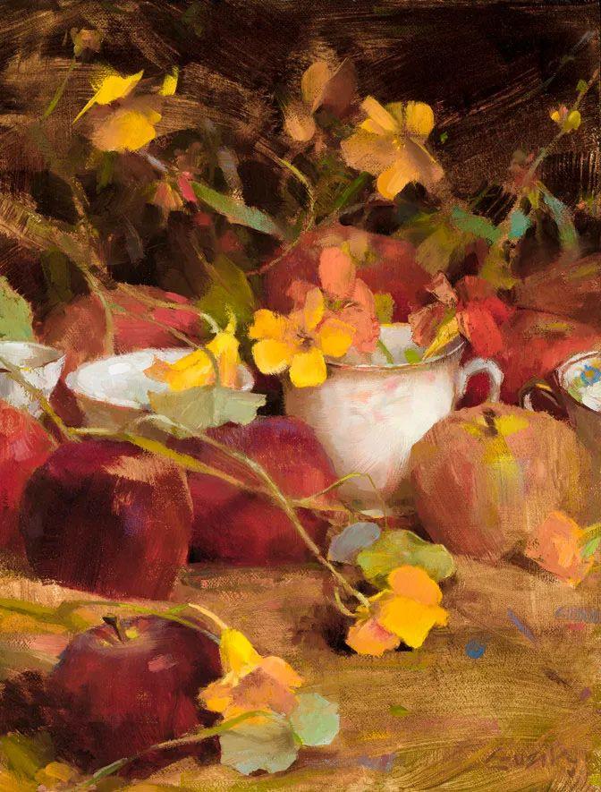 南希·古兹克笔下的花卉静物油画,爱了!插图25