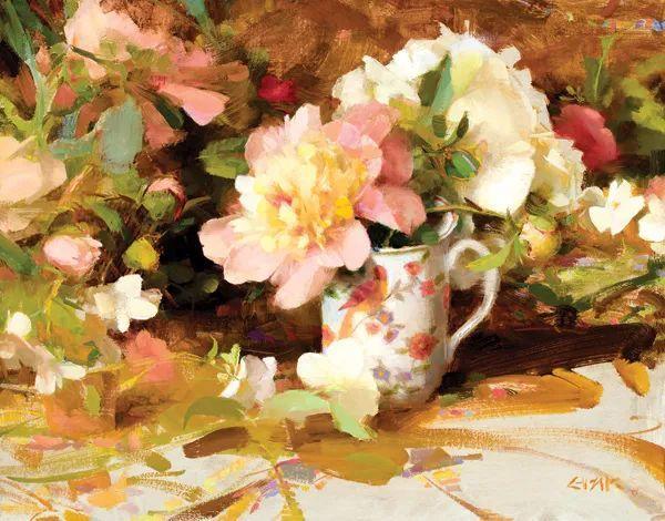南希·古兹克笔下的花卉静物油画,爱了!插图27