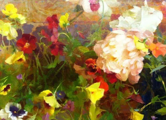 南希·古兹克笔下的花卉静物油画,爱了!插图29