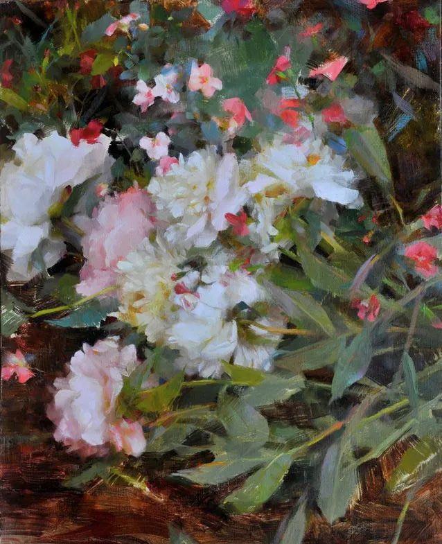 南希·古兹克笔下的花卉静物油画,爱了!插图31