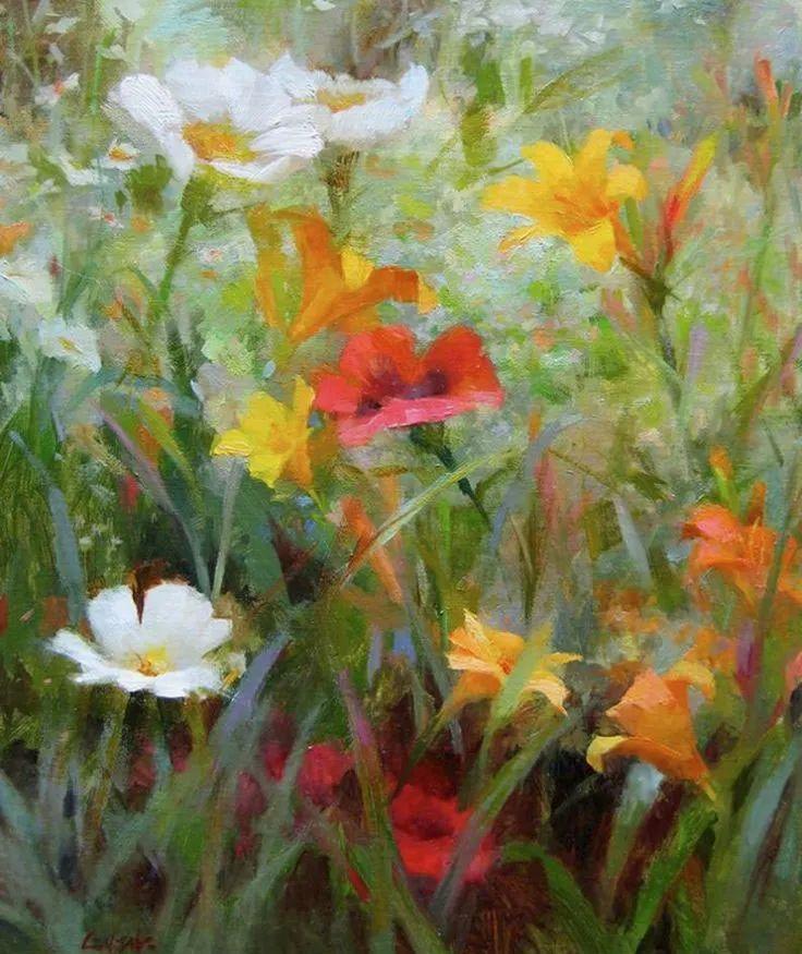 南希·古兹克笔下的花卉静物油画,爱了!插图33