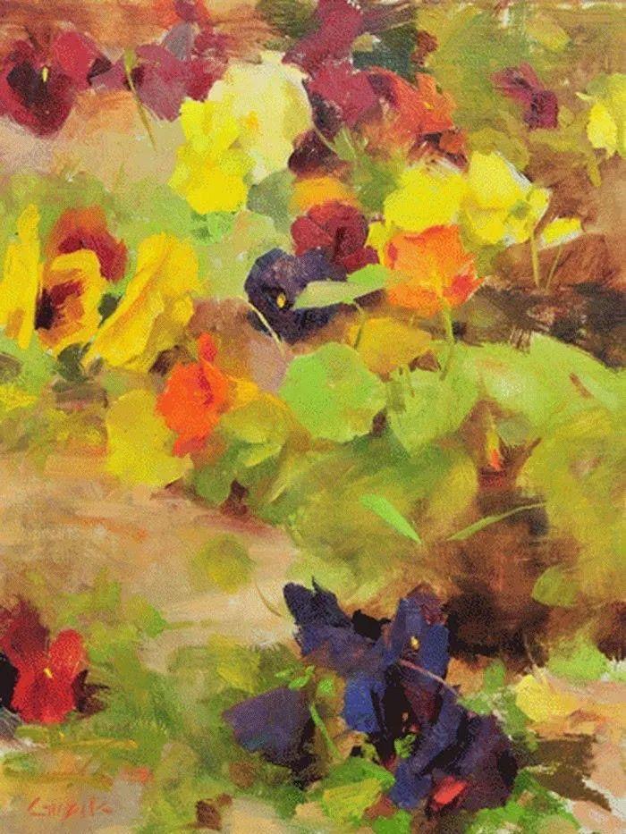 南希·古兹克笔下的花卉静物油画,爱了!插图35