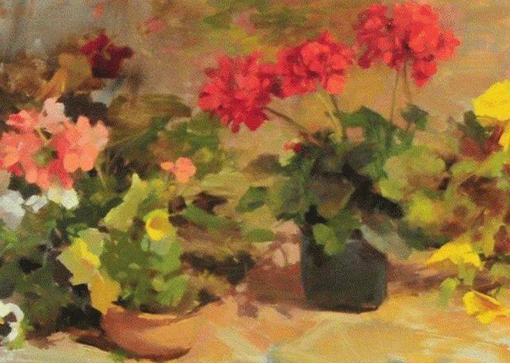 南希·古兹克笔下的花卉静物油画,爱了!插图37