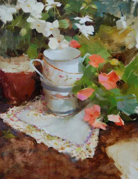 南希·古兹克笔下的花卉静物油画,爱了!插图39