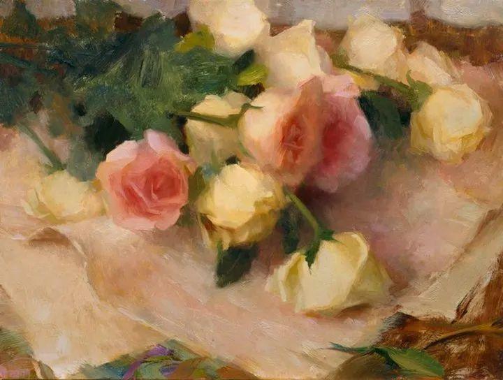 南希·古兹克笔下的花卉静物油画,爱了!插图41