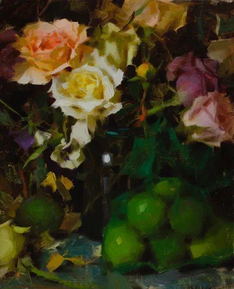 南希·古兹克笔下的花卉静物油画,爱了!插图43