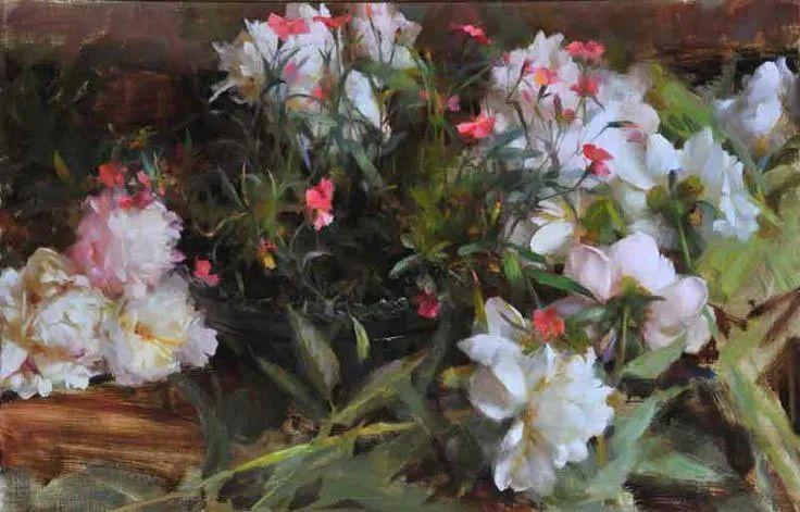 南希·古兹克笔下的花卉静物油画,爱了!插图45