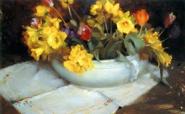 南希·古兹克笔下的花卉静物油画,爱了!插图49