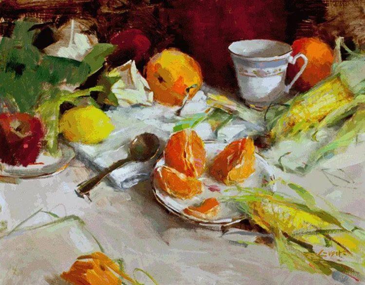 南希·古兹克笔下的花卉静物油画,爱了!插图53