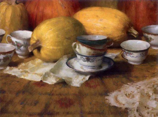 南希·古兹克笔下的花卉静物油画,爱了!插图57