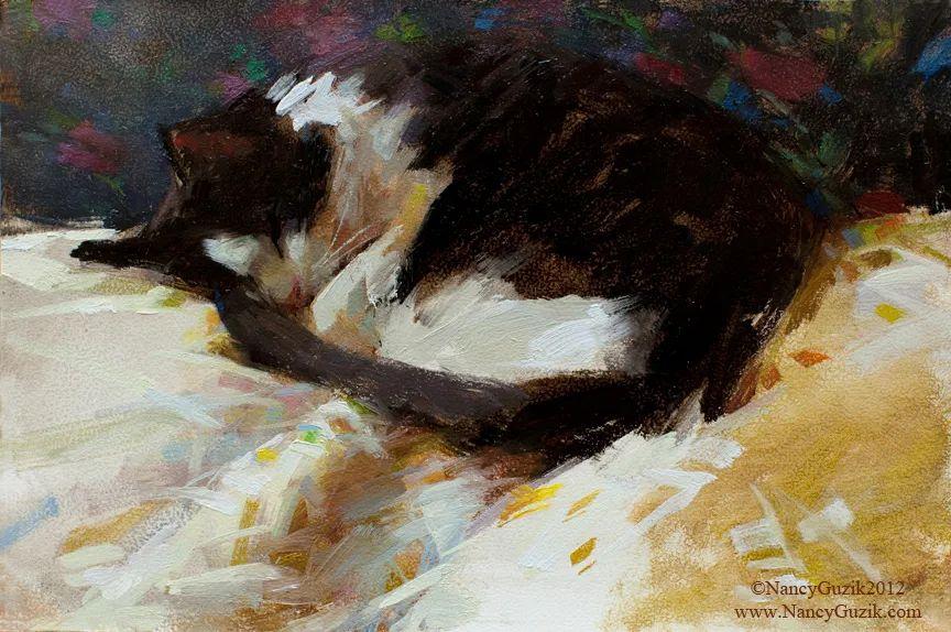 南希·古兹克笔下的花卉静物油画,爱了!插图61