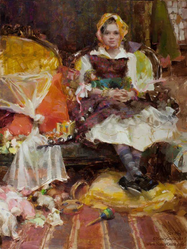南希·古兹克笔下的花卉静物油画,爱了!插图69