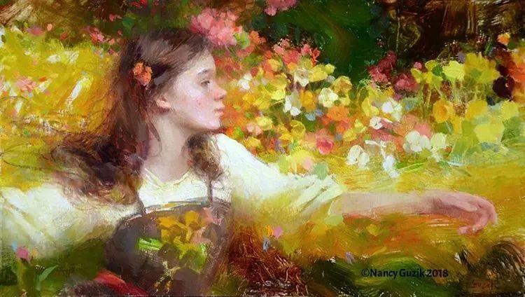 南希·古兹克笔下的花卉静物油画,爱了!插图71