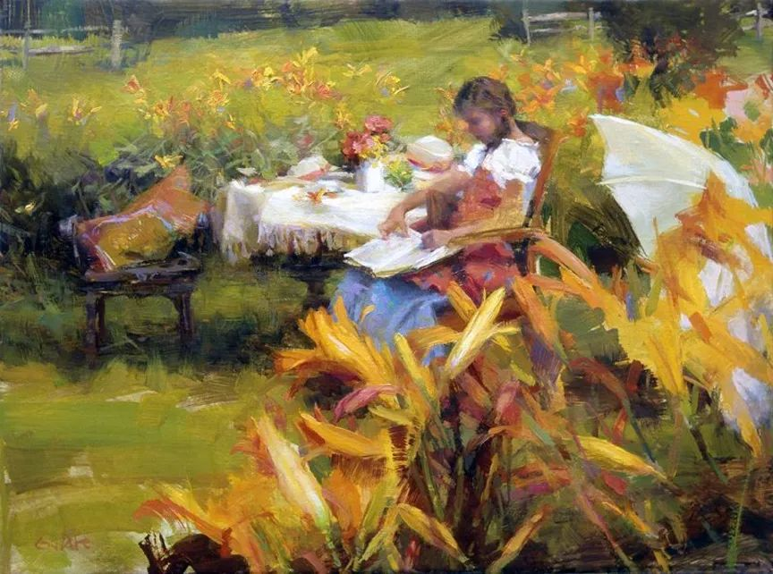 南希·古兹克笔下的花卉静物油画,爱了!插图75