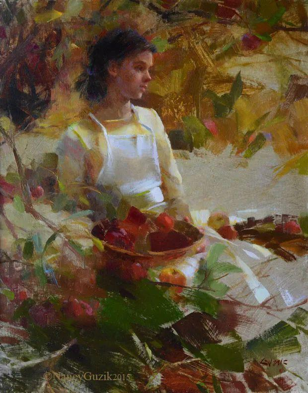 南希·古兹克笔下的花卉静物油画,爱了!插图79