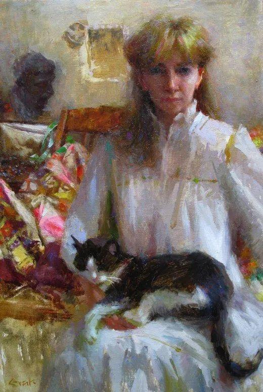 南希·古兹克笔下的花卉静物油画,爱了!插图87