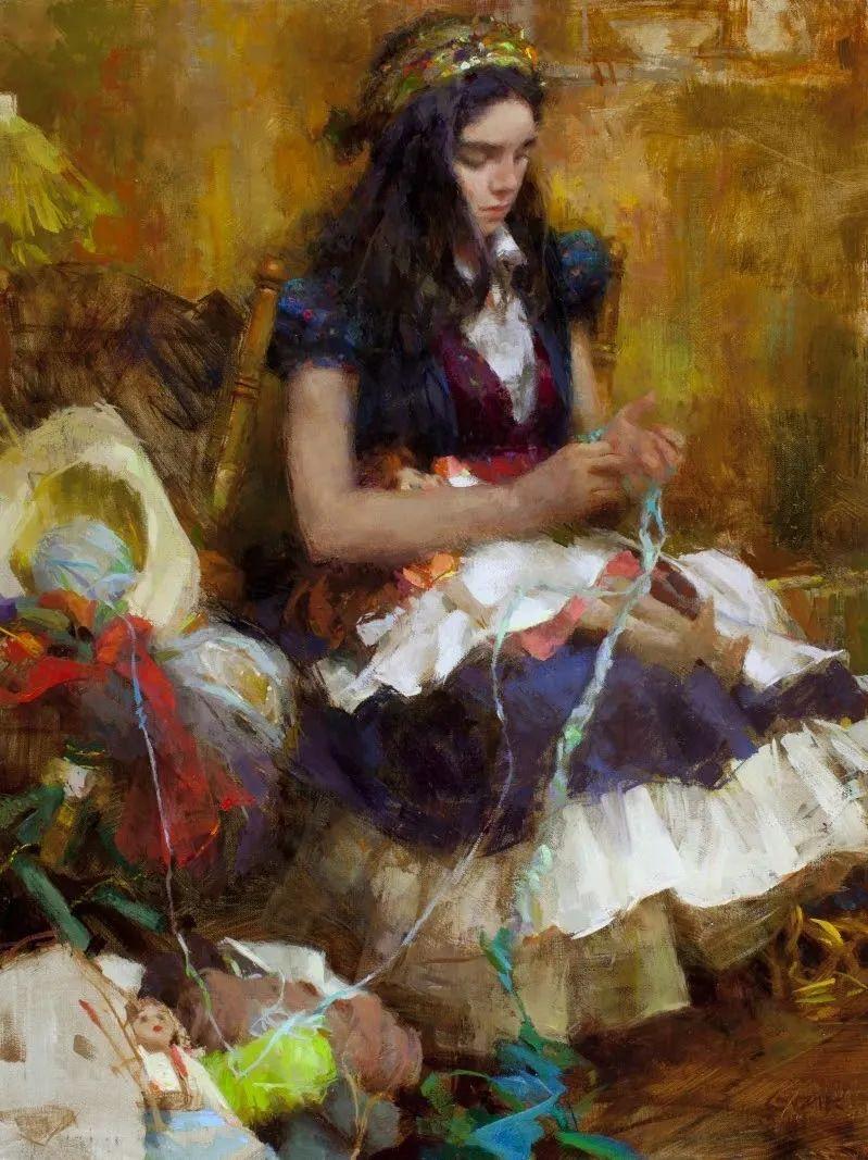 南希·古兹克笔下的花卉静物油画,爱了!插图97
