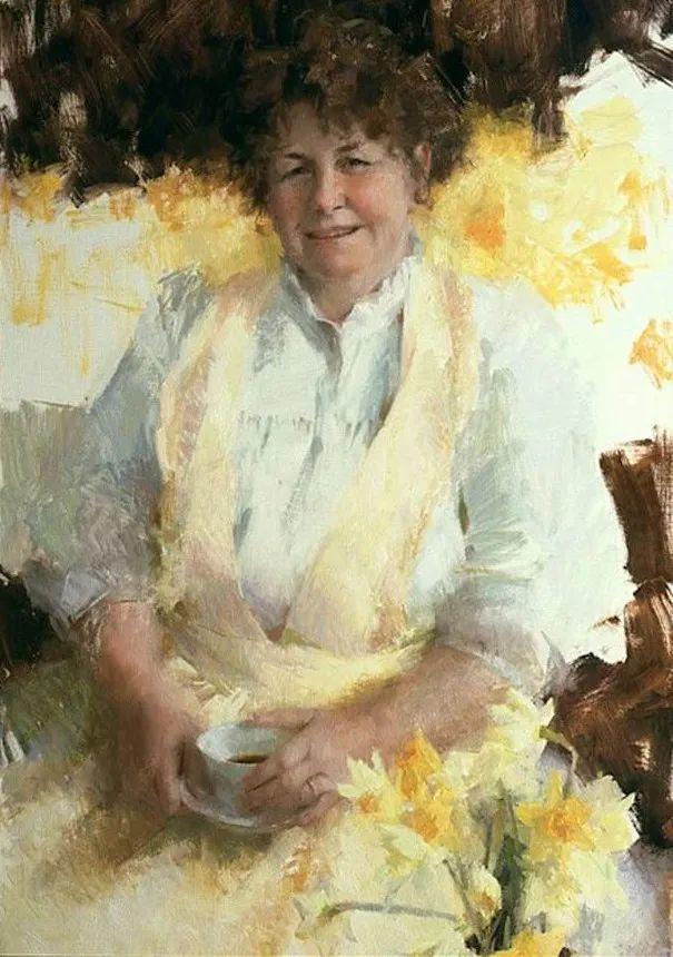 南希·古兹克笔下的花卉静物油画,爱了!插图117