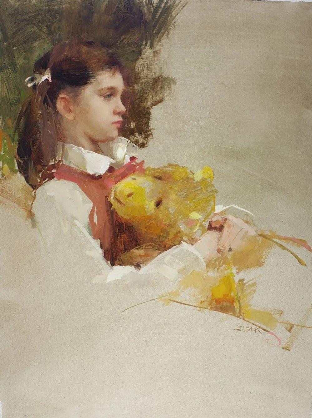 南希·古兹克笔下的花卉静物油画,爱了!插图119