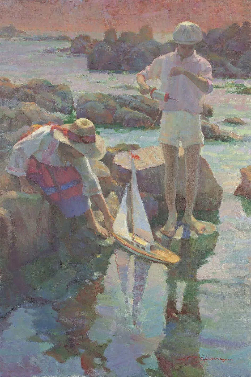 他的绘画以一种全新的、极其个人化的方式展现了光和形式!插图49