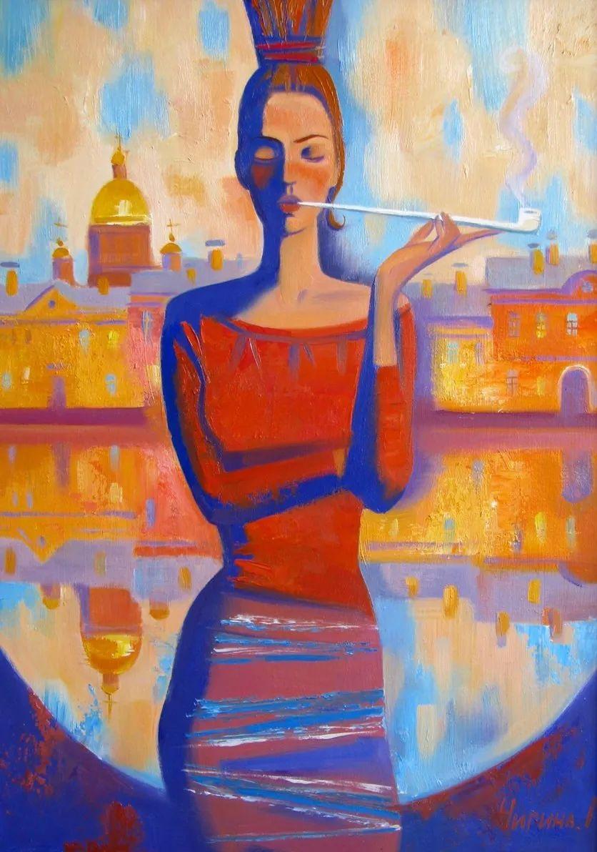 俄罗斯女画家玛格丽塔·奇吉娜,列宾美院优秀毕业生!插图31