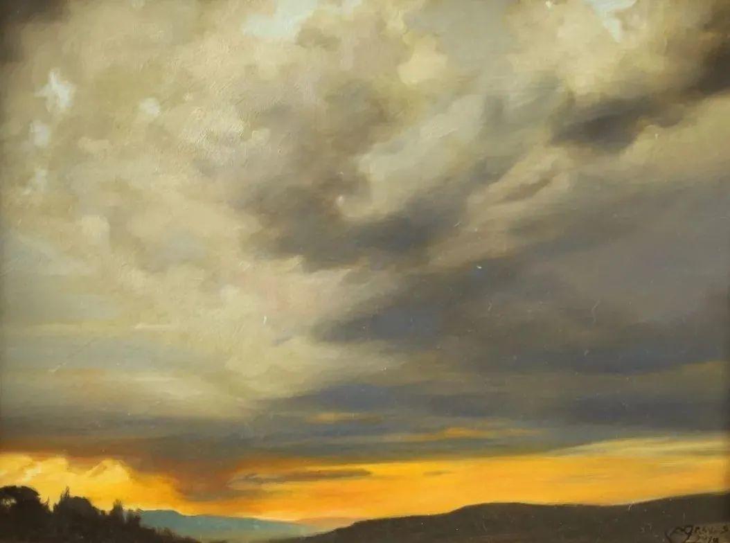 丹尼尔·格雷夫斯画笔下的云,仿佛随着时间在动插图1