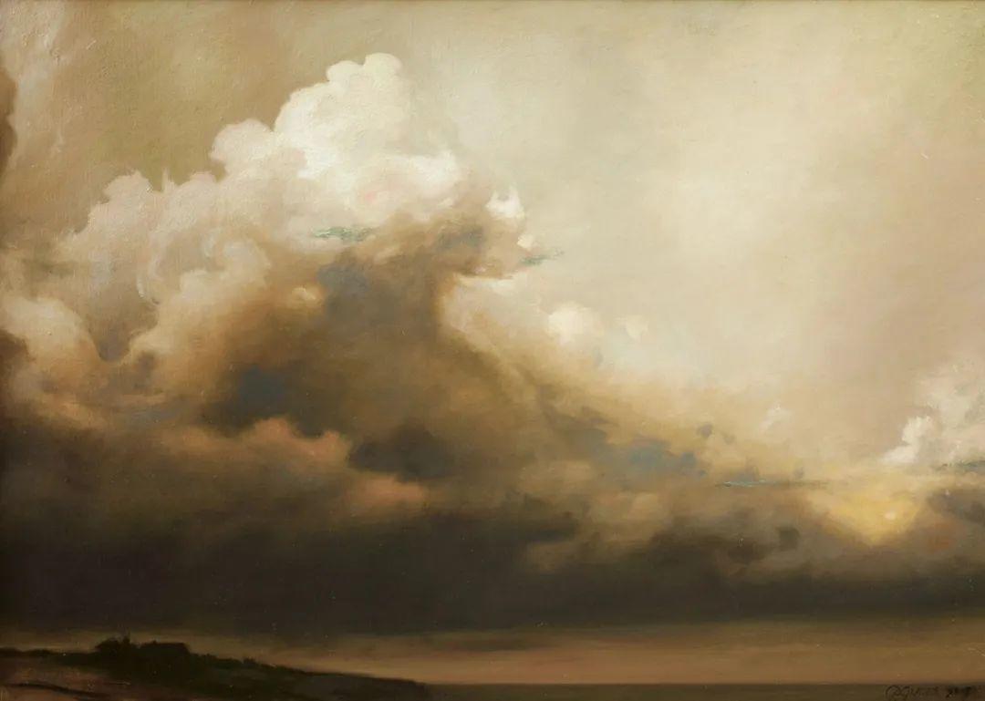 丹尼尔·格雷夫斯画笔下的云,仿佛随着时间在动插图3