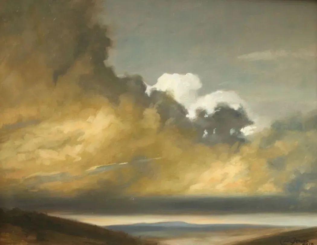 丹尼尔·格雷夫斯画笔下的云,仿佛随着时间在动插图5