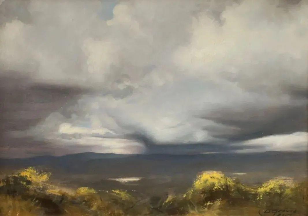 丹尼尔·格雷夫斯画笔下的云,仿佛随着时间在动插图7