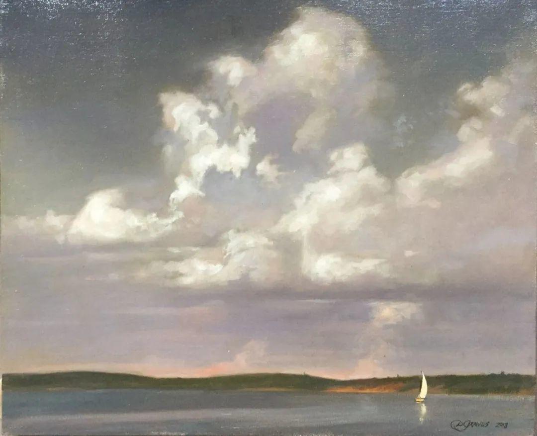 丹尼尔·格雷夫斯画笔下的云,仿佛随着时间在动插图25