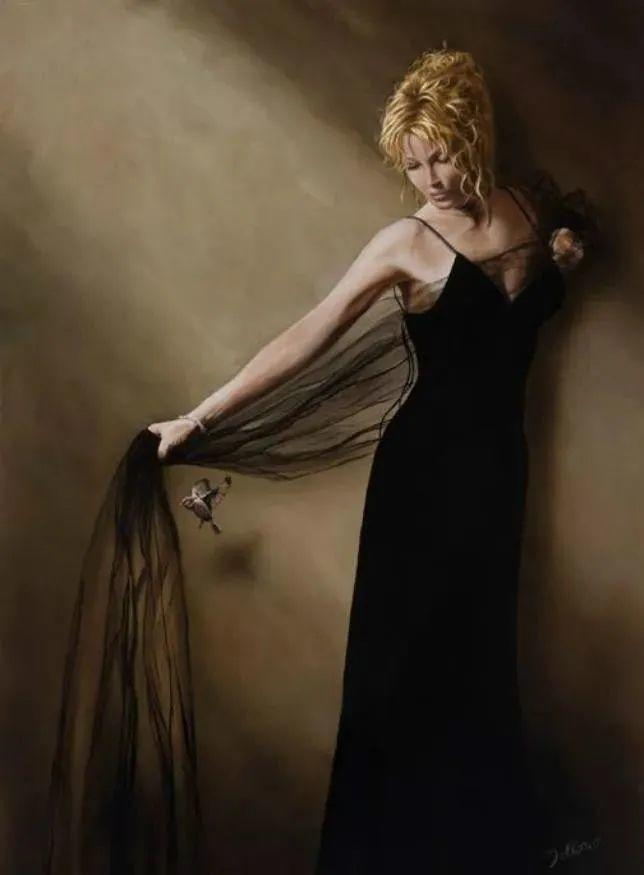 生动而优雅,美国艺术家Chris.Dellorco的人物油画作品赏析插图27