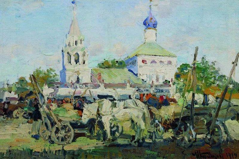俄罗斯肖像和风俗画家——伊万·库里科夫,曾协助列宾完成巨作插图5