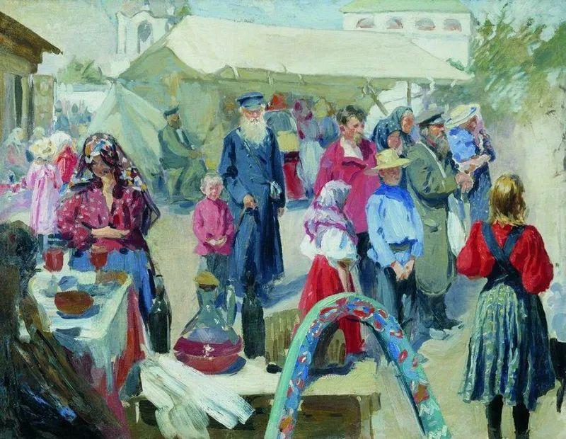 俄罗斯肖像和风俗画家——伊万·库里科夫,曾协助列宾完成巨作插图9