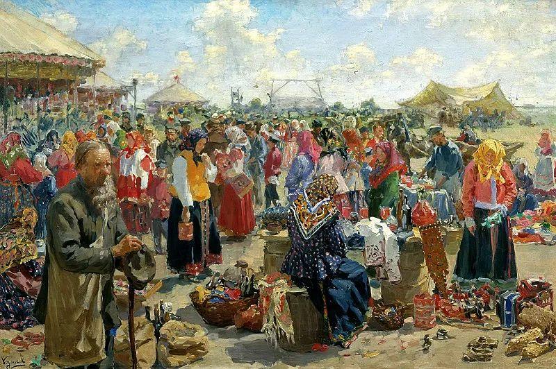 俄罗斯肖像和风俗画家——伊万·库里科夫,曾协助列宾完成巨作插图13