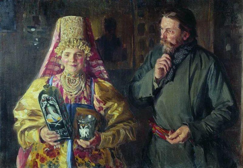 俄罗斯肖像和风俗画家——伊万·库里科夫,曾协助列宾完成巨作插图19