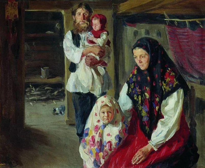 俄罗斯肖像和风俗画家——伊万·库里科夫,曾协助列宾完成巨作插图23