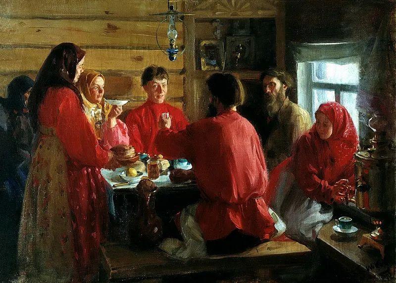 俄罗斯肖像和风俗画家——伊万·库里科夫,曾协助列宾完成巨作插图29