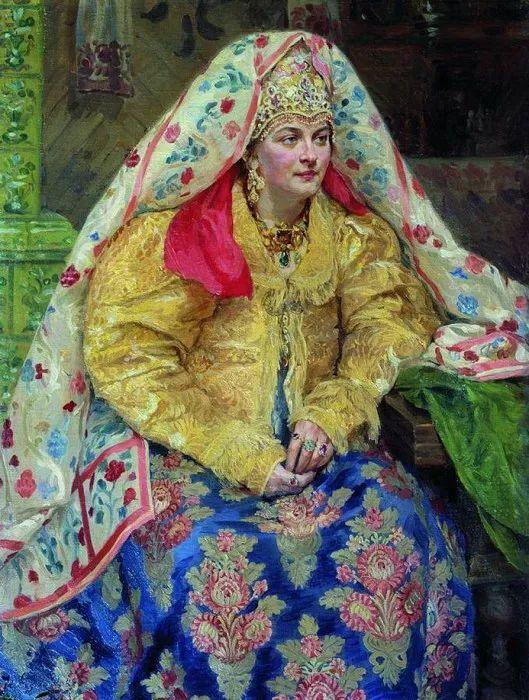 俄罗斯肖像和风俗画家——伊万·库里科夫,曾协助列宾完成巨作插图31