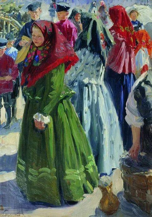 俄罗斯肖像和风俗画家——伊万·库里科夫,曾协助列宾完成巨作插图33