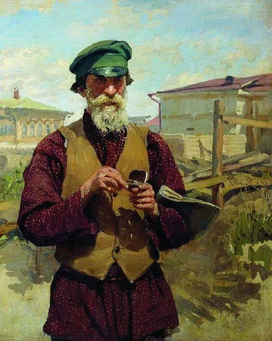 俄罗斯肖像和风俗画家——伊万·库里科夫,曾协助列宾完成巨作插图39