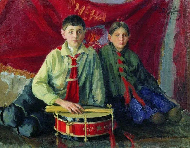 俄罗斯肖像和风俗画家——伊万·库里科夫,曾协助列宾完成巨作插图43