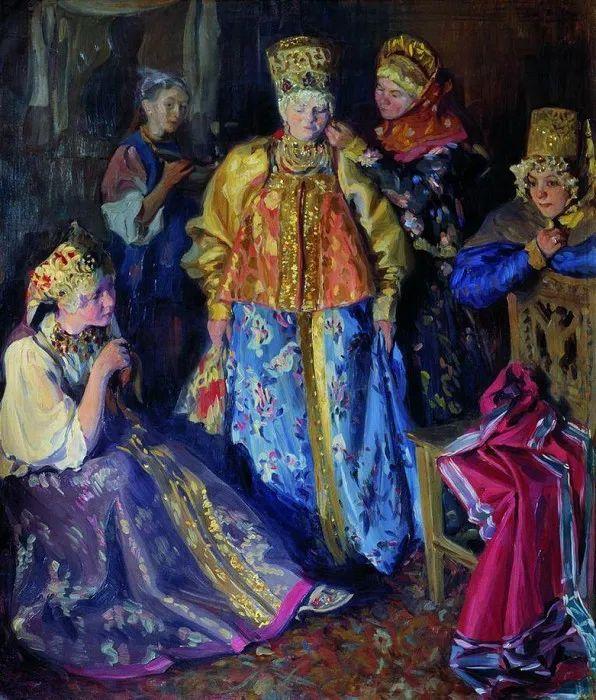 俄罗斯肖像和风俗画家——伊万·库里科夫,曾协助列宾完成巨作插图45