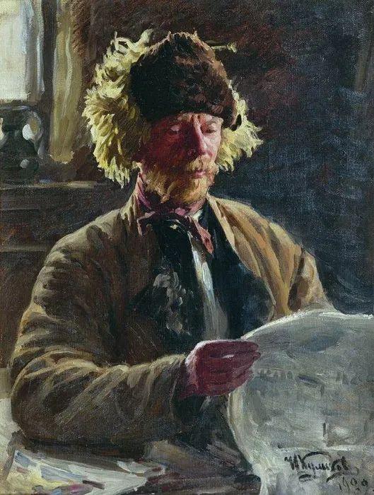 俄罗斯肖像和风俗画家——伊万·库里科夫,曾协助列宾完成巨作插图49
